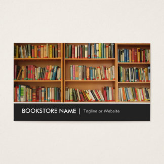 New Used Bookstore Library - Book Shelves Picture Business Card