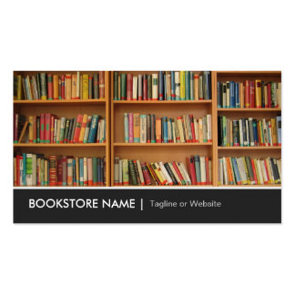 New Used Bookstore Library - Book Shelves Picture Double-Sided Standard Business Cards (Pack Of 100)