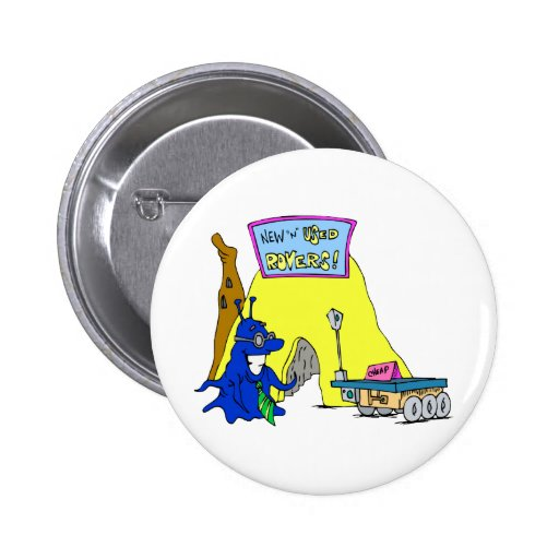 New & Used Rovers Pinback Button