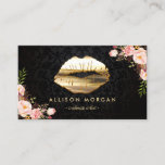 "(New Version) Gold Lips Makeup Artist Floral Business Card<br><div class=""desc"">Create your own business card with this &quot;3D Gold Lips Floral Decor&quot; template. It&#39;s easy and fun! (1) For further customization,  please click the &quot;customize further&quot; link and use our design tool to modify this template.  (2) If you need help or matching items,  please contact me.</div>"