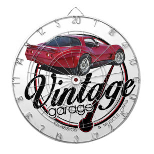 vette dart boards equipments zazzle Chevy Spark new vintage garage vette dartboard with darts