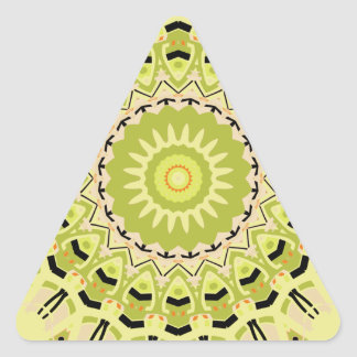 New Vintage Green and Black Kaleidoscope Triangle Sticker