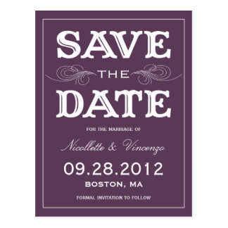 NEW VINTAGE   SAVE THE DATE ANNOUNCEMENT POSTCARD