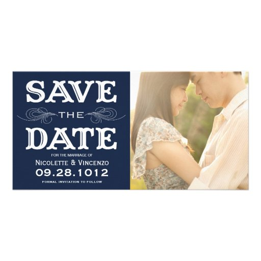 NEW VINTAGE   SAVE THE DATE PHOTO CARD