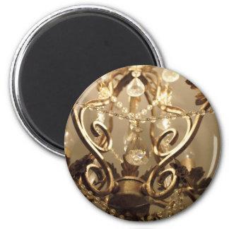 New Vintage Style 'Chandelier' 2 Inch Round Magnet