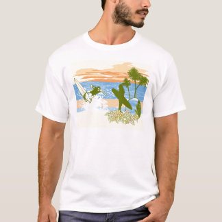 new vintage surfer hawaii beach girl boy T-Shirt