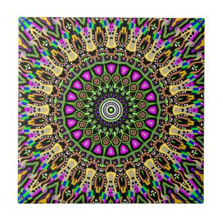 New Vision No 5 Kaleidoscope Ceramic Tile