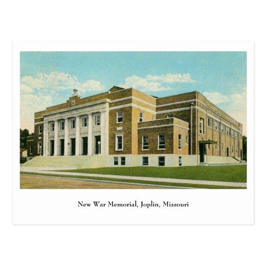 New War Memorial Joplin MO Postcard