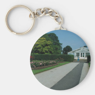 New water lily house, Kew Gardens, London, England Keychain