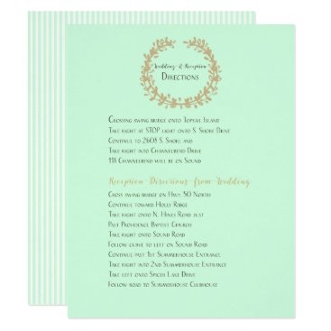 Beach Themed New Wedding and Reception Directions Card