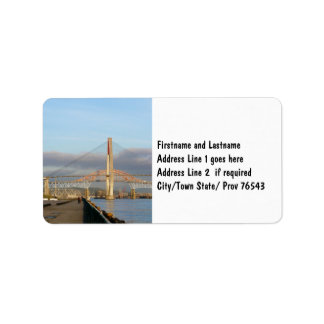 New Westminster Quay Boardwalk and Harbour Label