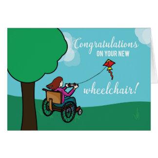 New Wheelchair Congratulations, Girl, Kite Card