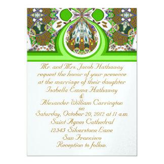 New White & Green Ice Wedding Party Invitation