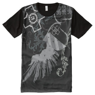 New Winged Shield Crest Distressed #2 All-Over-Print Shirt