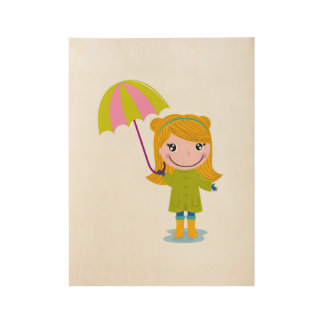 New wood poster with Rain Girl