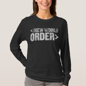 New Word Order End Tag Shirt
