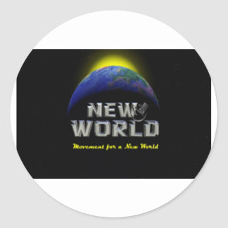 NEW WORLD CLASSIC ROUND STICKER