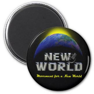 New_World Imán De Frigorifico