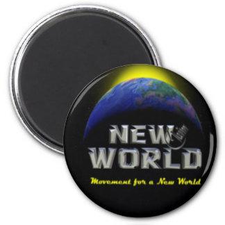 New World Refrigerator Magnet