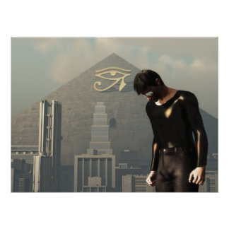 New World Order Cityscape Poster