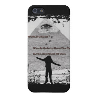 """NEW WORLD ORDER ?""* COVER FOR iPhone SE/5/5s"
