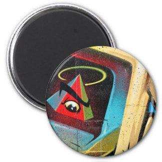 New World Order Graffiti 2 Inch Round Magnet