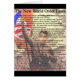 New World Order Laws Card