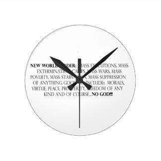 New World Order:  Mass exterminations, Mass exterm Round Wall Clocks
