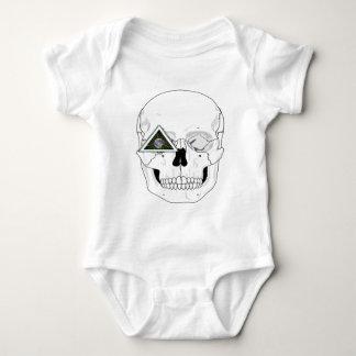 New World Order Skull Design Infant Creeper