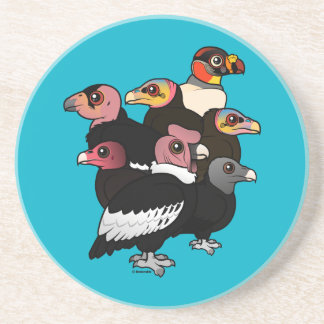 New World Vultures Drink Coaster