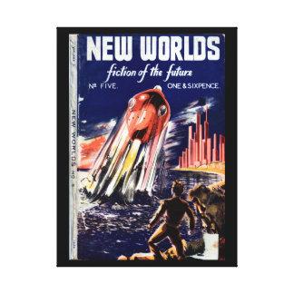 New Worlds 005 (1949.Nova)_Pulp Art Canvas Print