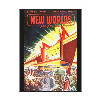New Worlds 03 1952_Pulp Art Canvas Print