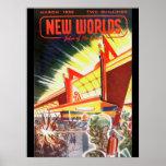 New Worlds 03 1952_Pulp Art Poster
