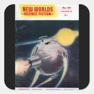 New Worlds 059 (1957-05.Nova)_Pulp Art Square Sticker