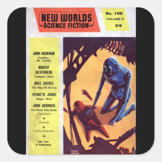 New Worlds 109 (1961-08.Nova)_Pulp Art Square Sticker