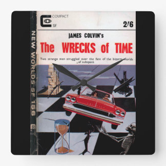 New Worlds 156 (1965-11.Roberts&Vinter)_Pulp Art Square Wall Clock