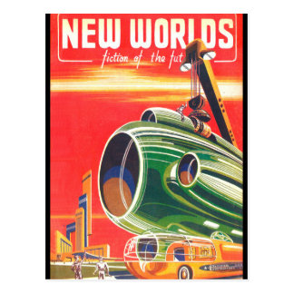 New Worlds 1950_Pulp Art Postcard