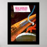 New Worlds 37_Pulp Art Poster