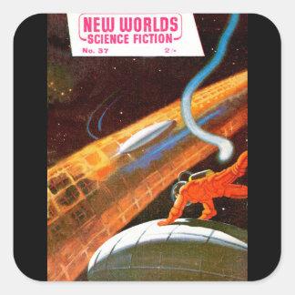 New Worlds 37_Pulp Art Square Sticker