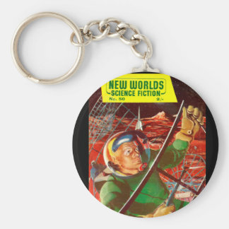New Worlds 50_Pulp Art Keychain
