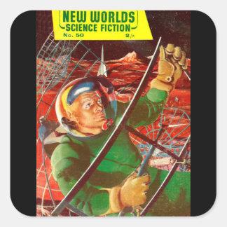 New Worlds 50_Pulp Art Square Sticker