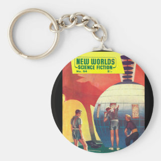 New Worlds 54_Pulp Art Keychain
