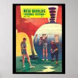 New Worlds 54_Pulp Art Poster