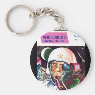 New Worlds 57_Pulp Art Basic Round Button Keychain