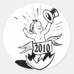 New Year 2010 Baby Round Sticker