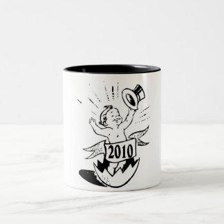 New Year 2010 Baby Two-Tone Coffee Mug