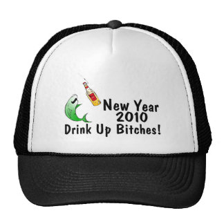 New Year 2010 Fish And Beer Trucker Hat