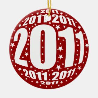 New Year 2011 Ceramic Ornament