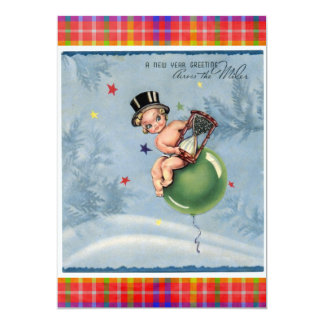New Year 2012 5x7 Paper Invitation Card