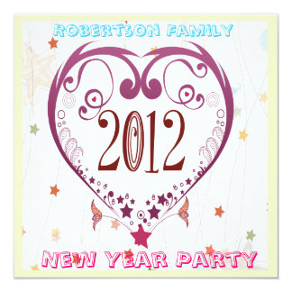 new year 2012 party invitation